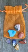 Set of Chakra Stones, Orange Bag