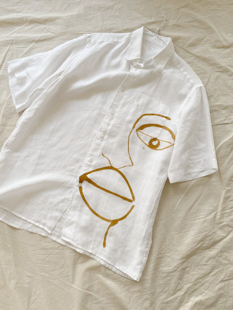 Image of linen face shirt