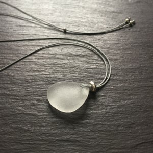 Image of Frosty white sea glass necklace - Thorpeness