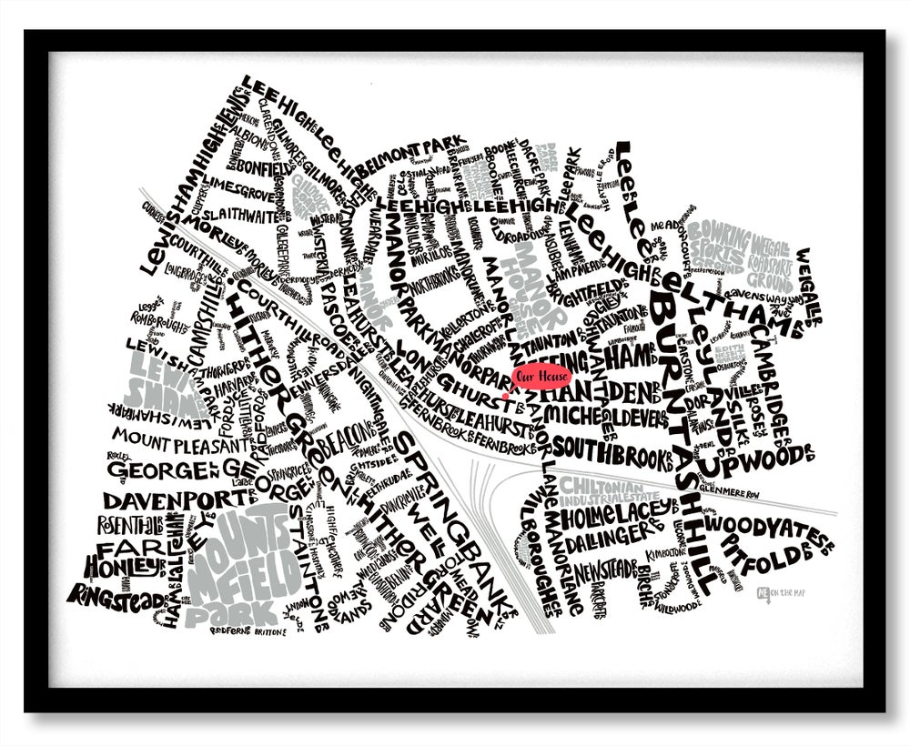 Image of Hither Green SE13 & Lee Green SE12 - SE London Type Map