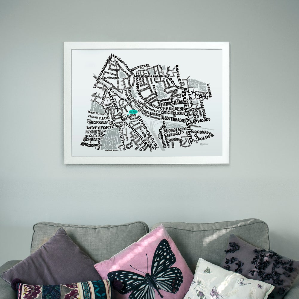 Image of Hither Green SE13 - SE London Type Map
