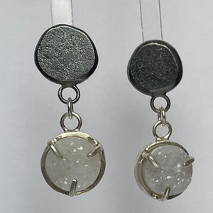 Image of Druzy and silver earrings
