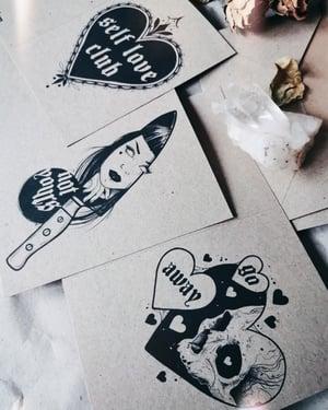Image of Anti Valentine Card Set SELFLOVE