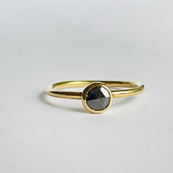 Image of Chocolate diamond 18ct gold ring