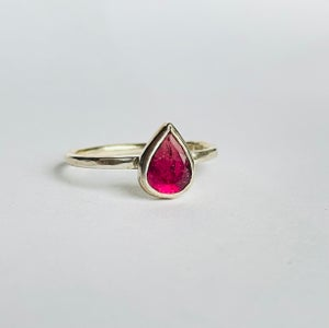 Image of Pink tourmaline silver ring