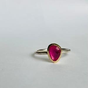 Image of Gold tourmaline ring