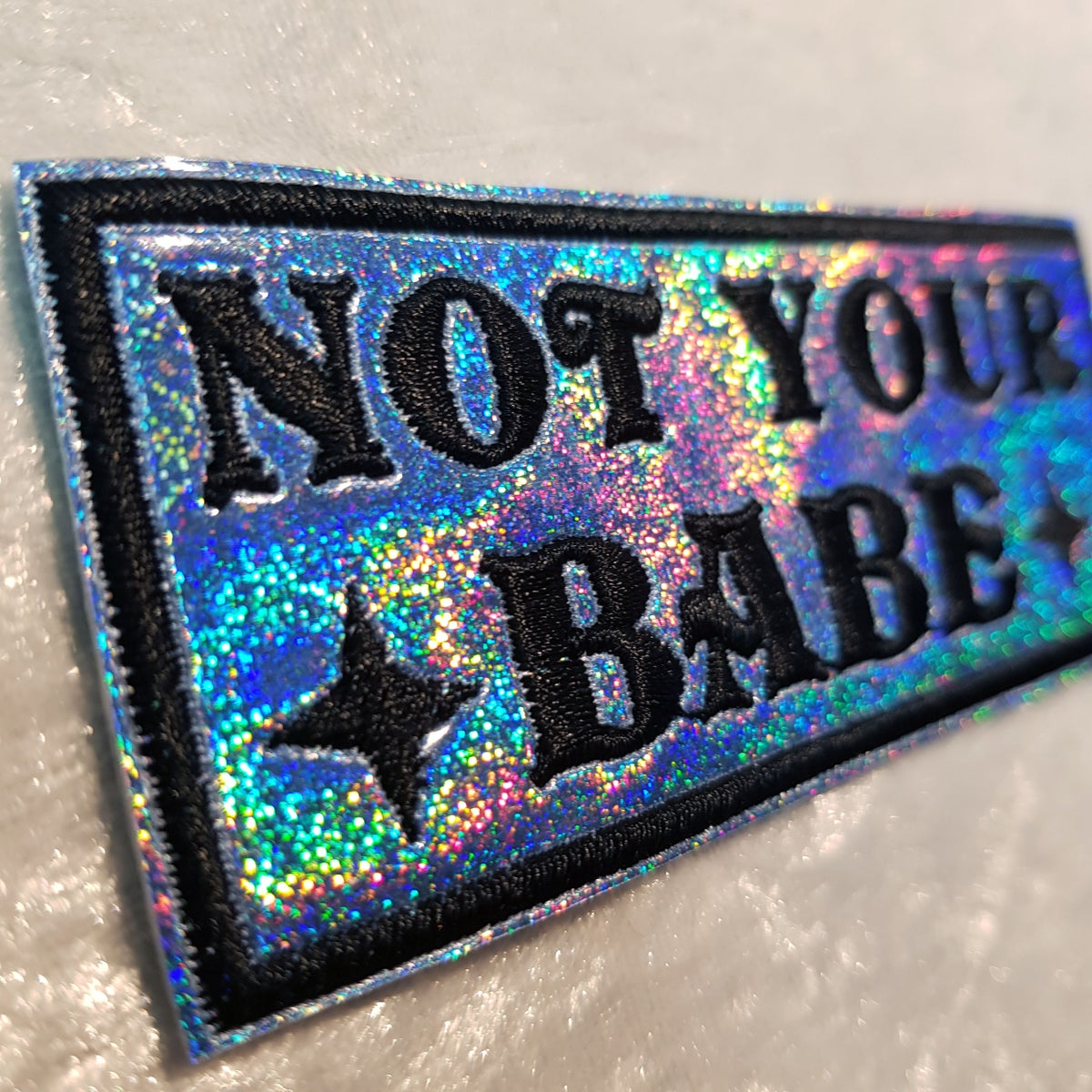 🖕 Grand patch brodé Not your babe 🖕