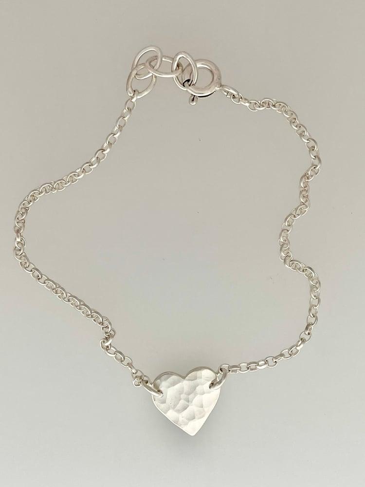 Image of Silver heart bracelet