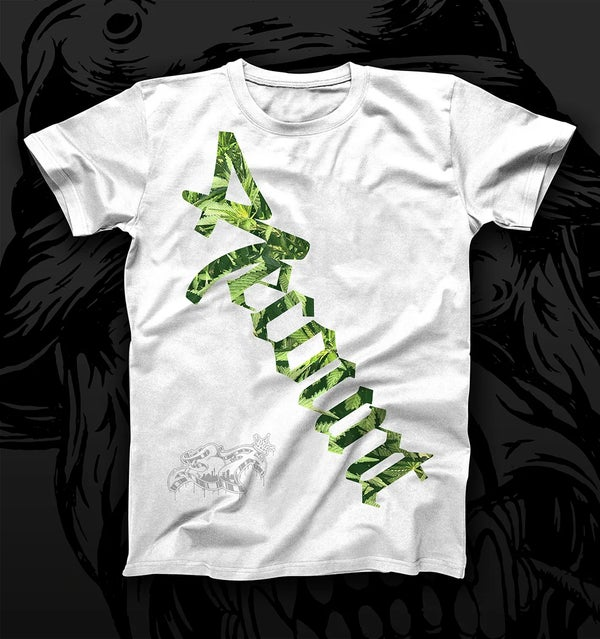 "Image of RECOUNT - ""WEED"" RCNT LOGO SHIRT WHITE"