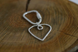 Image of Silver Heart key ring