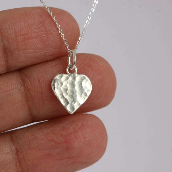 Image of Silver heart necklace