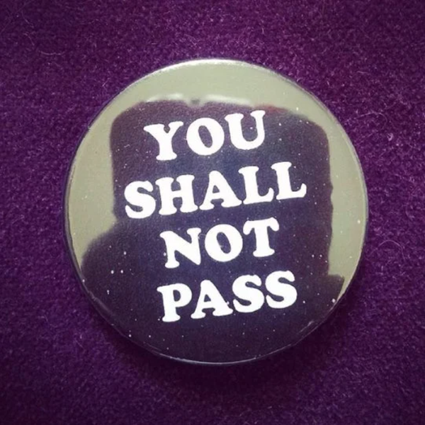Image of badge le seigneur des anneaux - lord of the rings - not pass