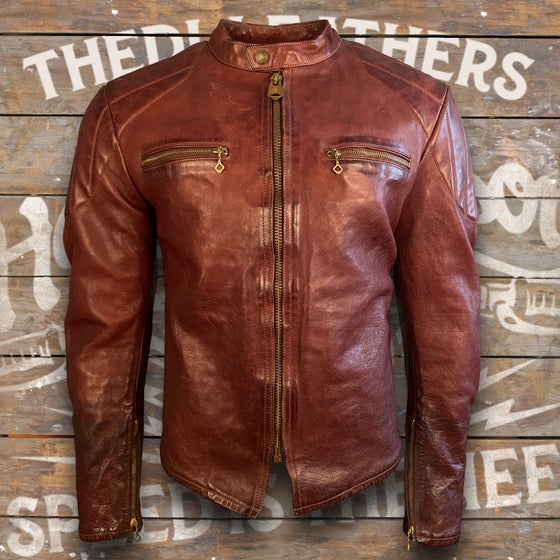 Image of THEDI LEATHERS CAFE RACER JACKET MTC-1261