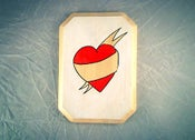 Image of Heart Banner Tattoo - customizable