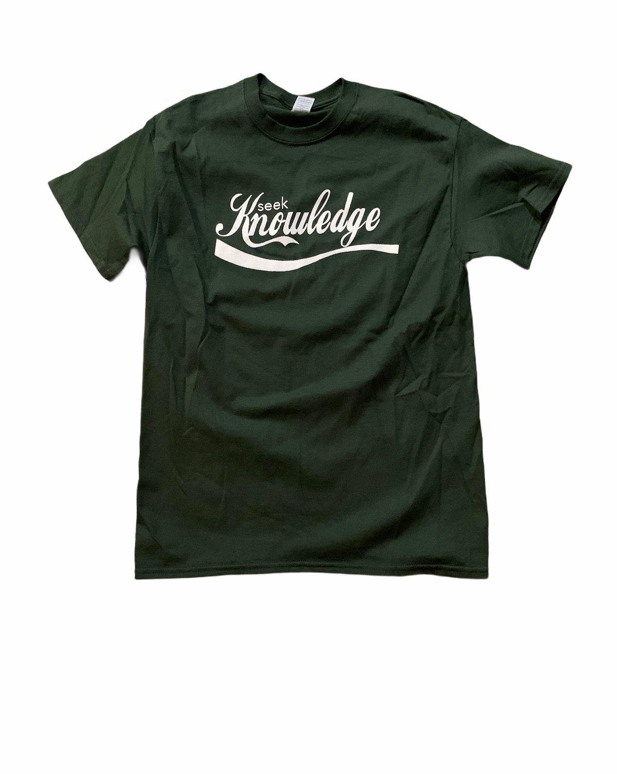 "Image of Seek Knowledge "" Green Tea "" shirt"