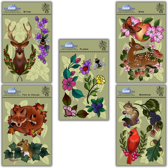 Image of Charlotte Eleanor Designs Flora & Fauna Stamp Collection