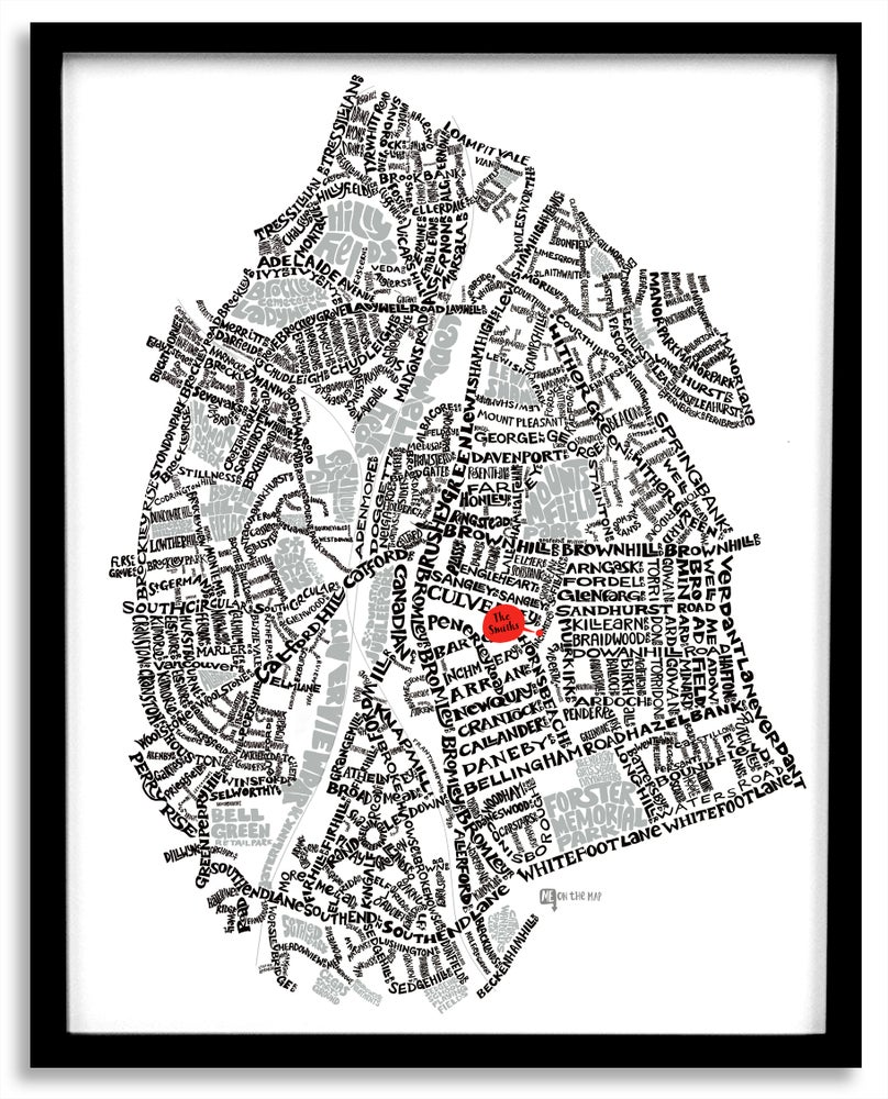 Image of Catford SE6 & Hither Green SE13  - London Type Map - White