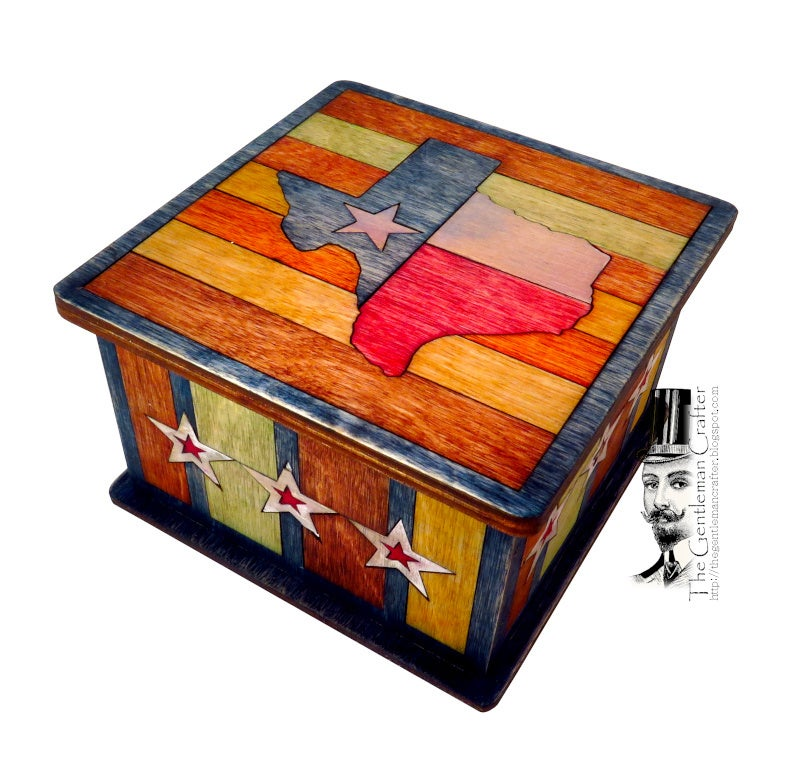 Image of Marquetry Box - Texas Our Texas Box Kit