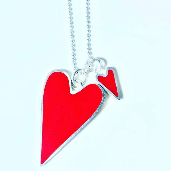 Image of Double Heart Pendant