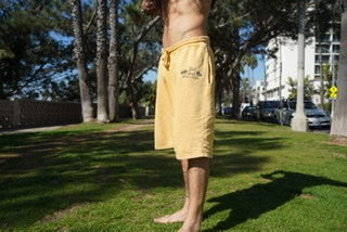 Image of Del Sol Records Yellow Shorts