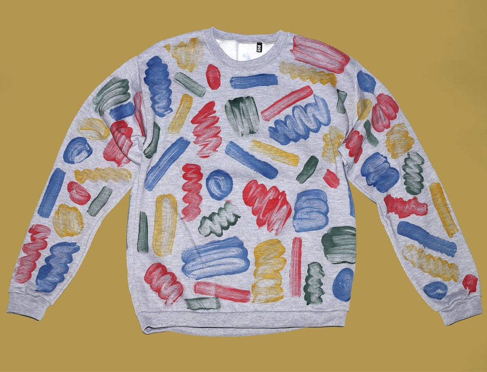 Image of MONOTYPE PAINT SWEATSHIRT