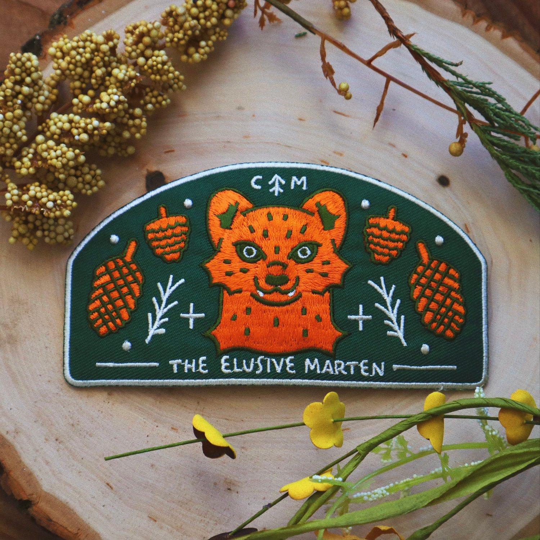 elusive marten embroidered patch (CM)