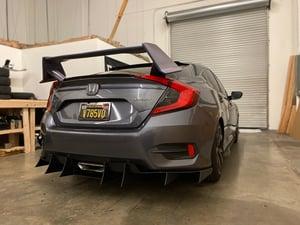 "Image of 2016+ Honda Civic ""Sport"" V2 rear diffuser"