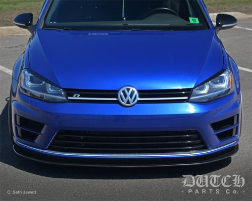 Image of VW MK7 GOLF R FRONT BUMPER SPLITTER
