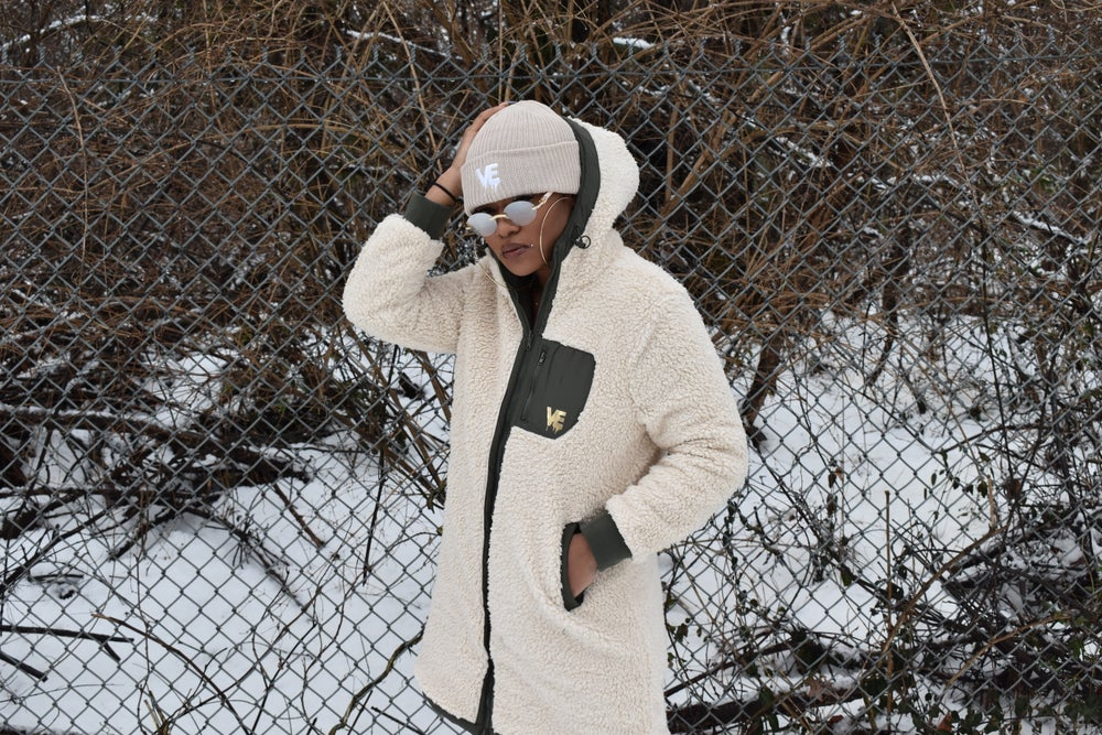 Limited Edition Long Reversible Sherpa Coat