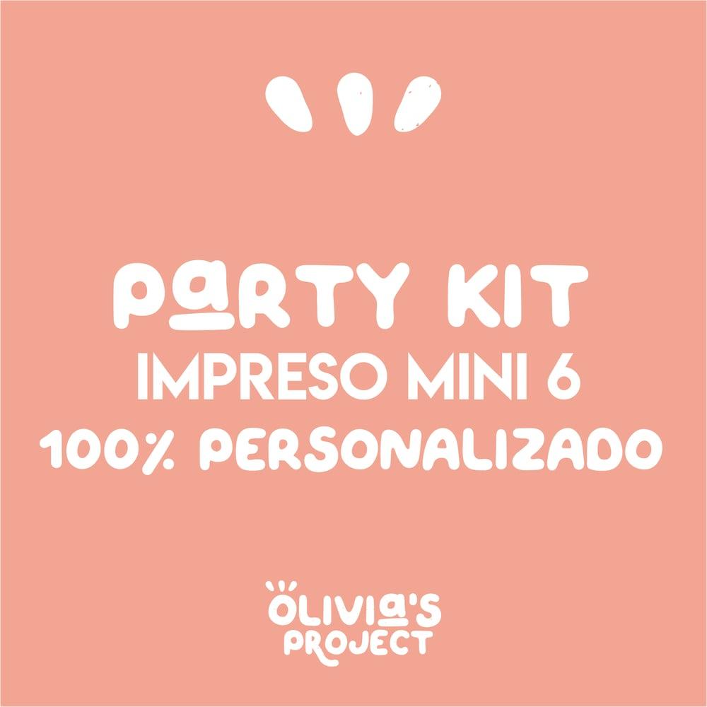 Image of Party Kit Impreso Mini 6 100% Personalizado (diseño nuevo)