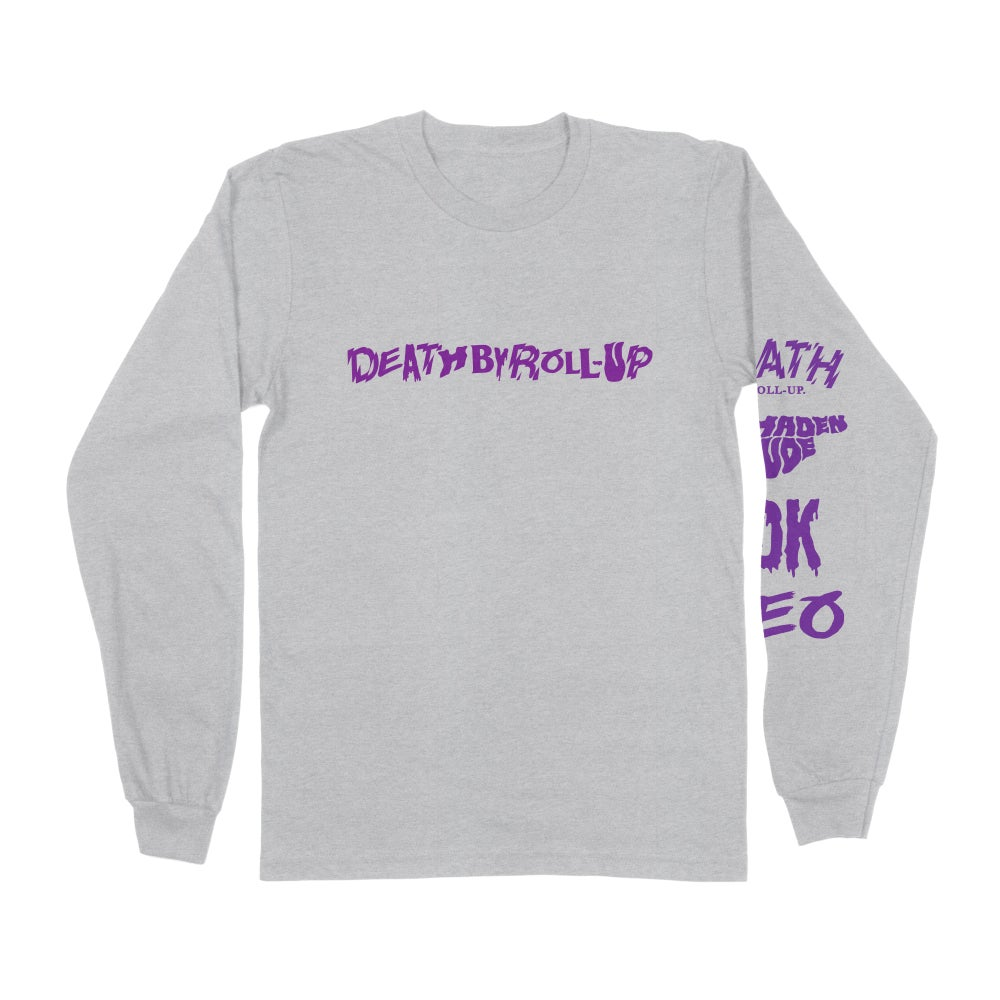 DEATH BY ROLL-UP 'MANGA' LONG SLEEVE TEE GREY ED. [PRE-ORDER]