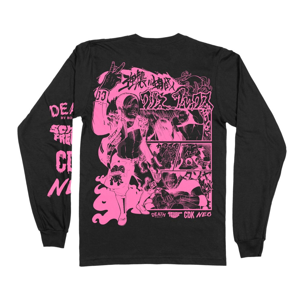 DEATH BY ROLL-UP 'MANGA' LONG SLEEVE TEE MIDNIGHT ED. [PRE-ORDER]