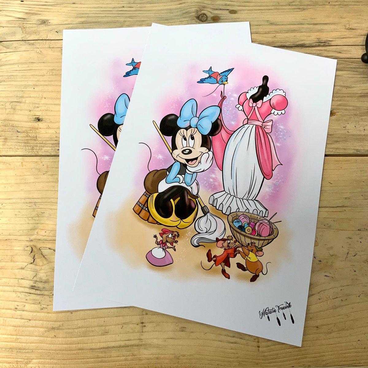 Cinderella Minnie- A4 Print