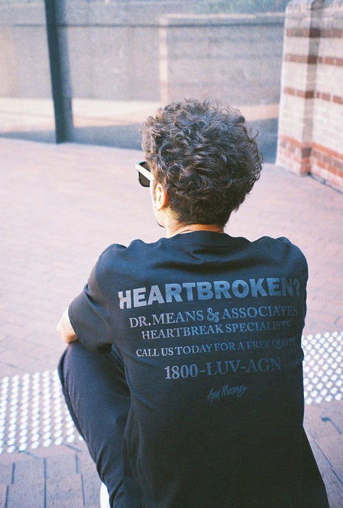 Image of Heartbroken Tee in Tonal Black