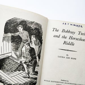 Laura Lee Hope - The Bobsey Twins and the Horseshoe Riddle