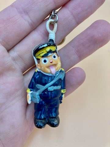 Image of Vintage Hanging Traffic warden key ring