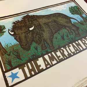 Image of THE AMERICAN BISON Woodcut