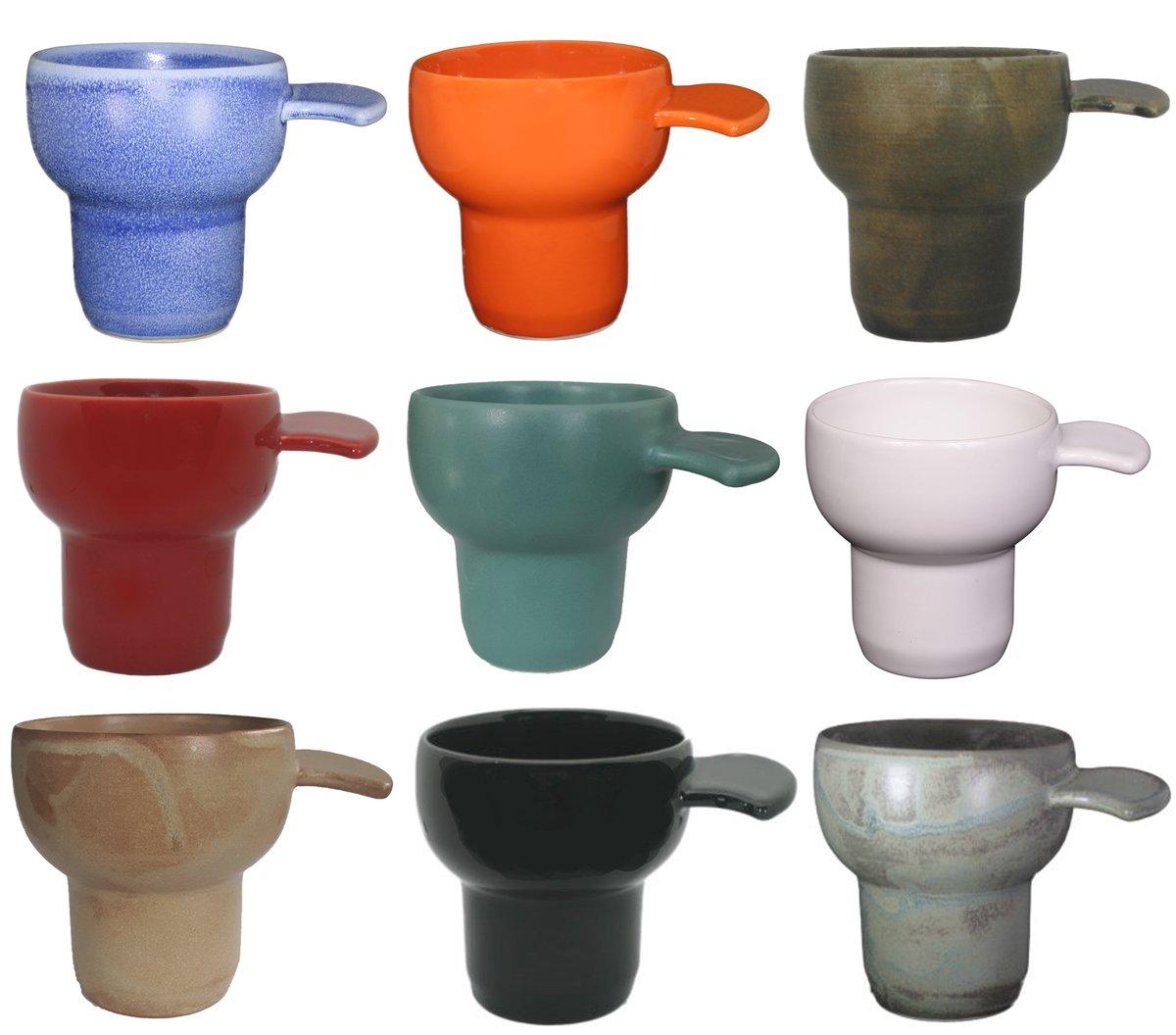 Flange Grip - 2 Stoneware Cups