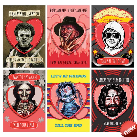 Image of KILLERS HOLIDAY 4x6 CARDS (6 PACK SET w/ Envelopes)