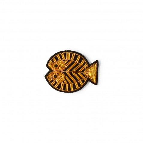 "Image of BROCHE BRODÉE ""POISSON"", MACON & LESQUOY"