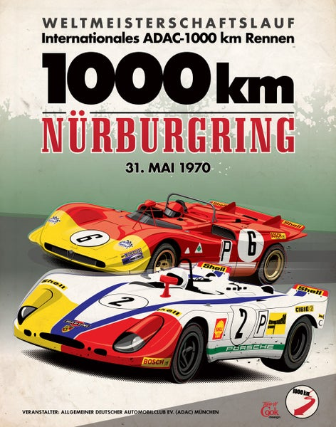 Image of Nürburgring Posters by Todd W Cook