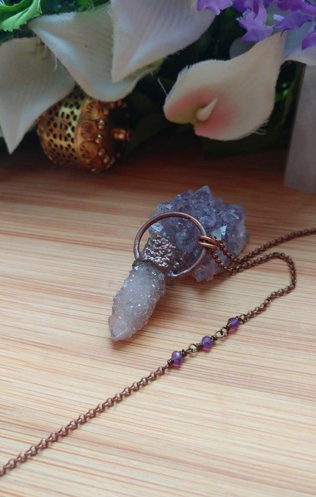 Image of Pale Lavender Cactus Quartz Pendant #2