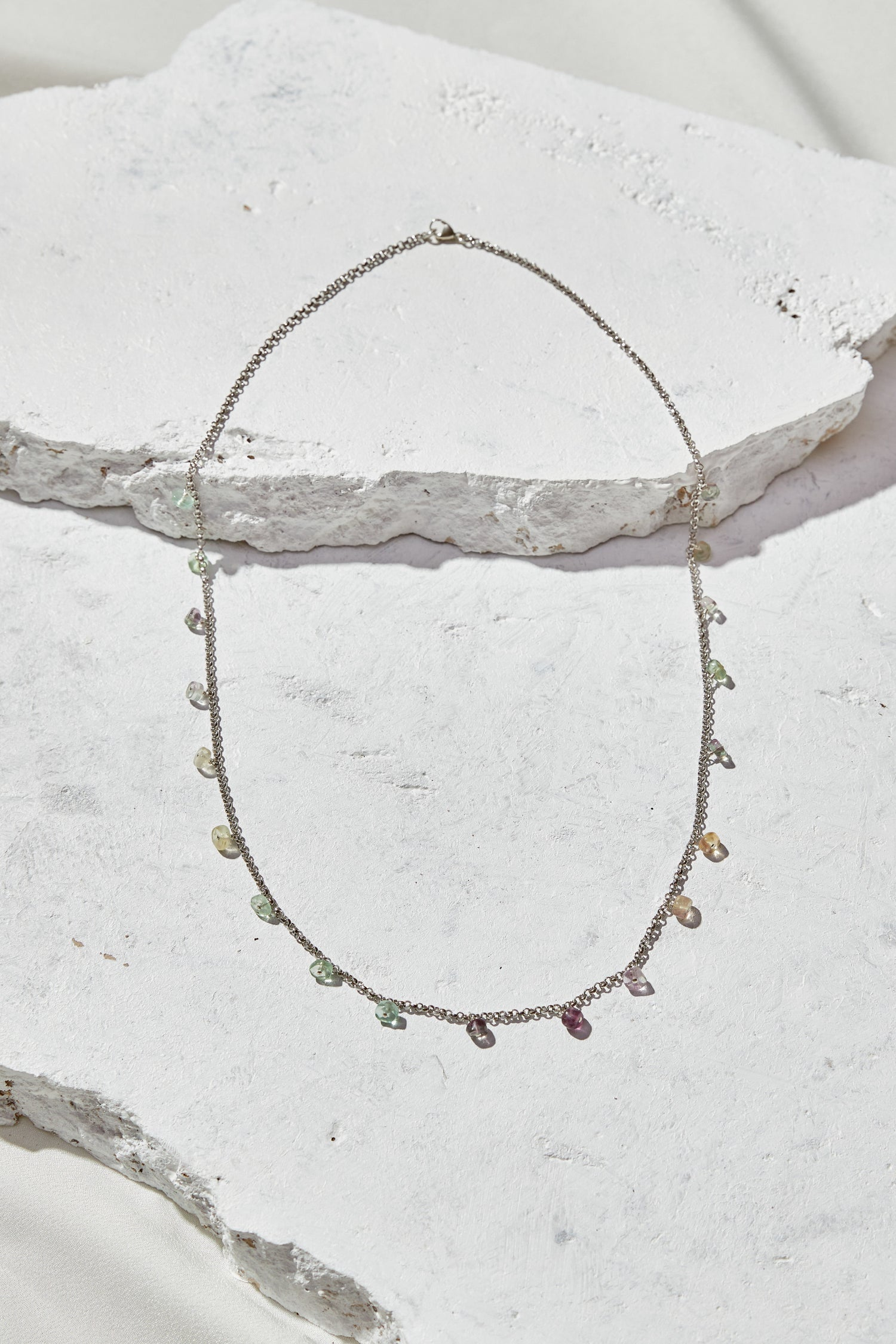 Image of Rainbow Flourite Necklace