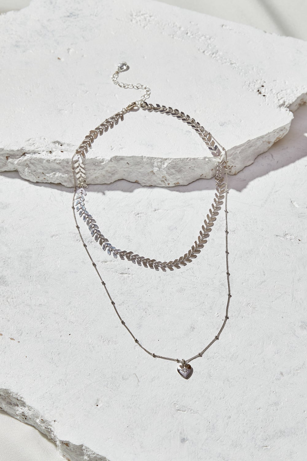Image of Tiny Heart Layered Necklace