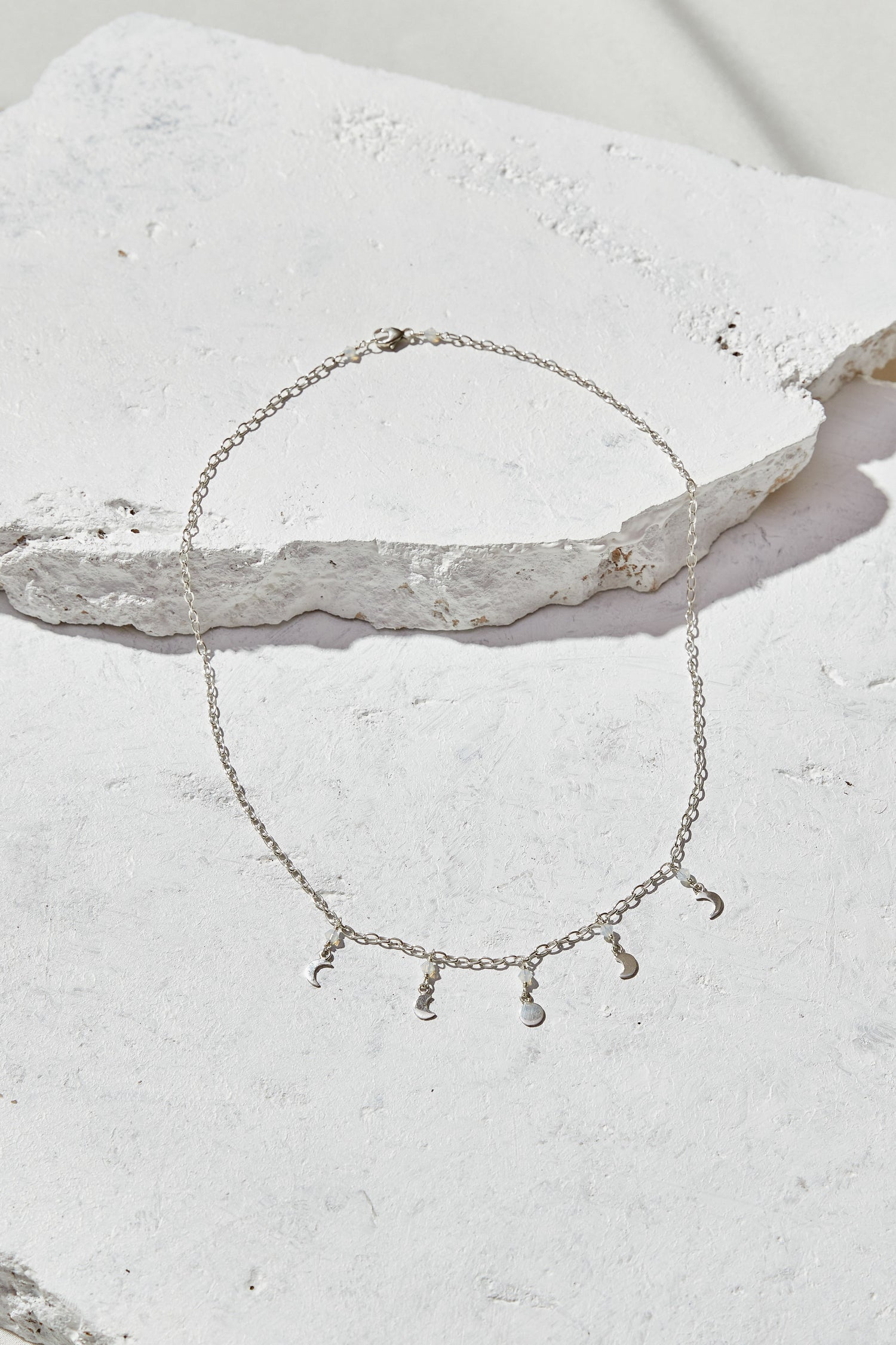 Image of Opalite + Moon Phases Necklace