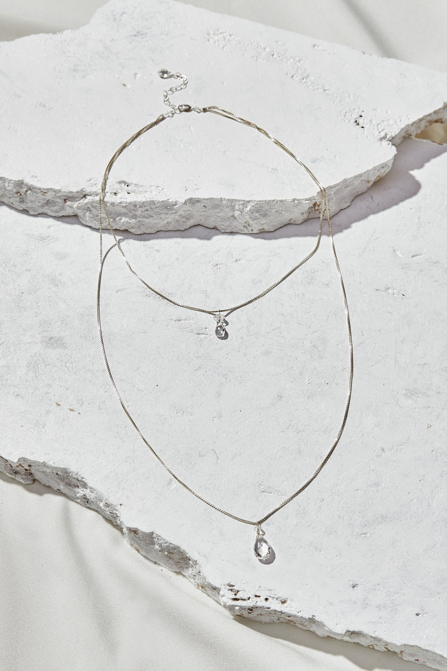 Image of Clear Quartz Layered Necklace