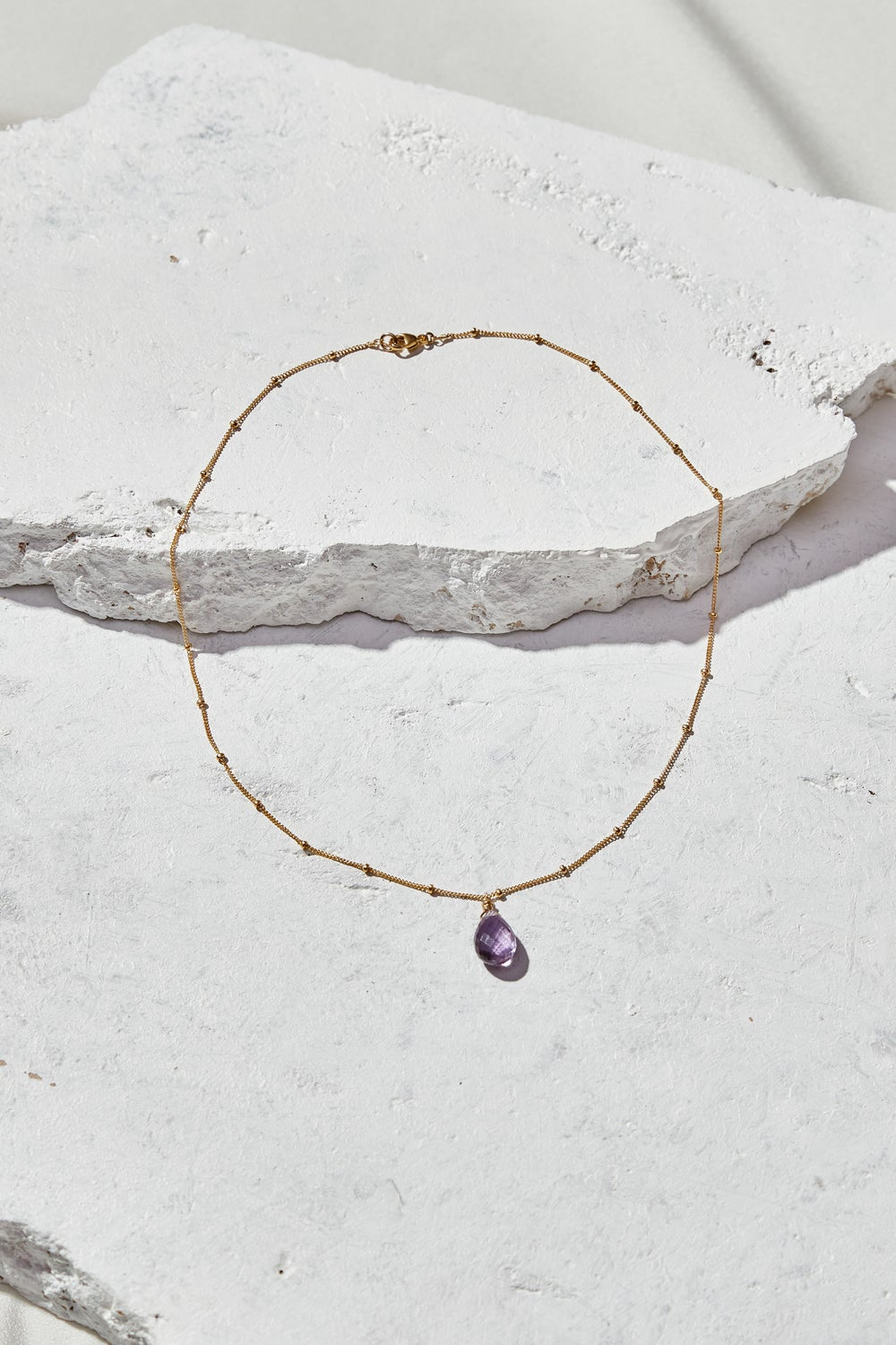 Image of Simple Amethyst Necklace