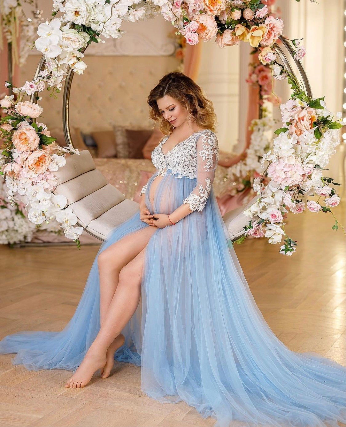 Image of Heaven maternity gown