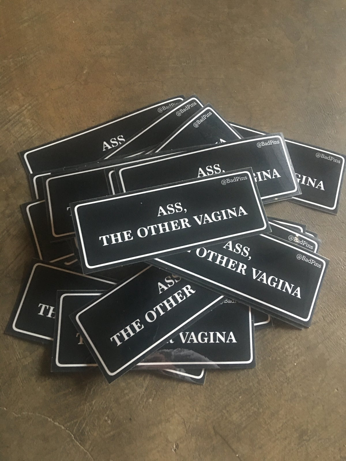 Image of Ass, The Other Vagina 5 Inch sticker