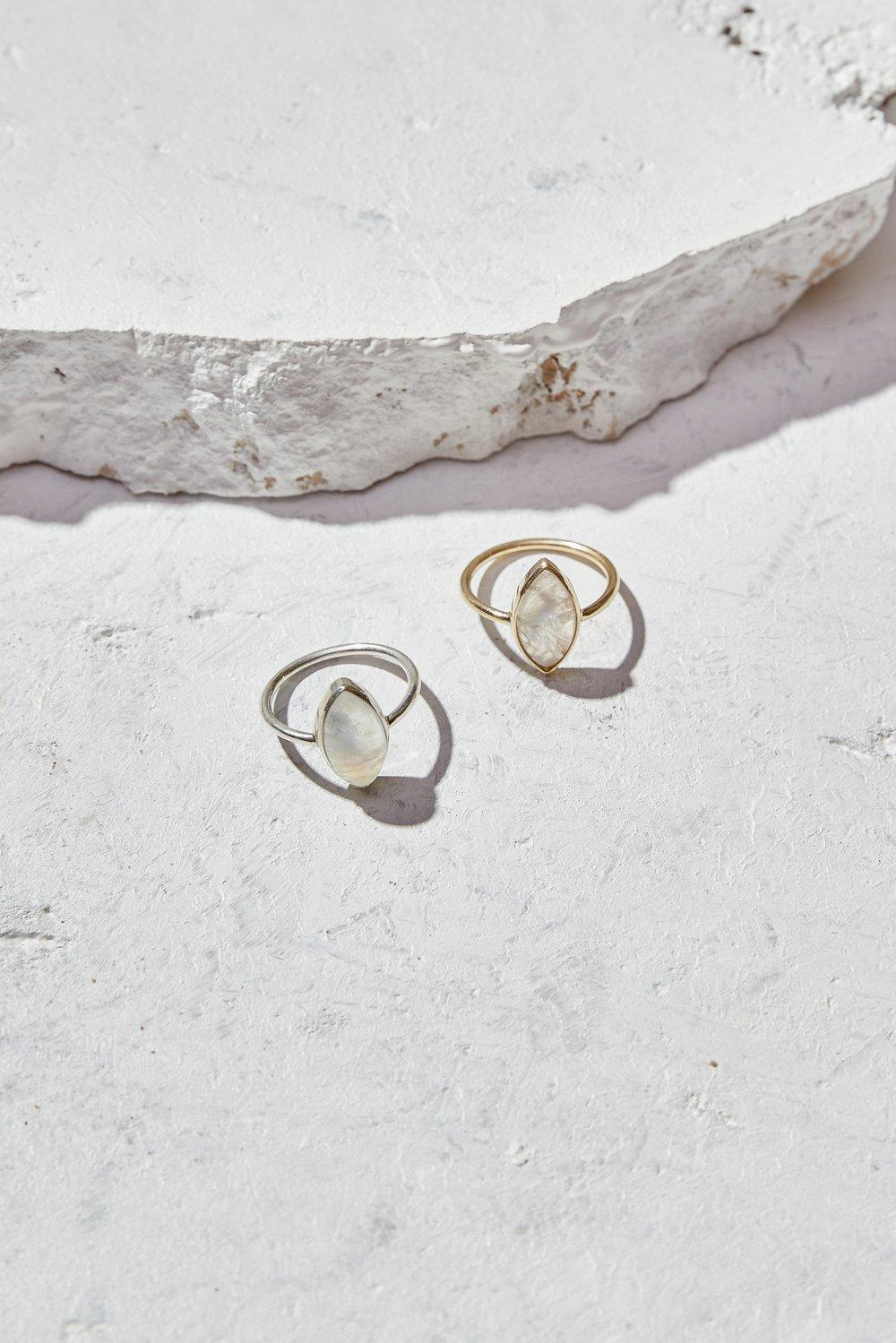 Image of Rainbow Moonstone Ring